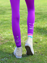 Load image into Gallery viewer, PURPLE & BLUE OMBRE HI BYE LEGGINGS 2-PACK
