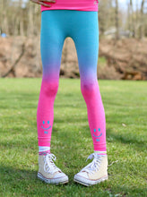 Load image into Gallery viewer, PURPLE & BLUE OMBRE HI BYE LEGGINGS 2-PACK ($7.00 each!)