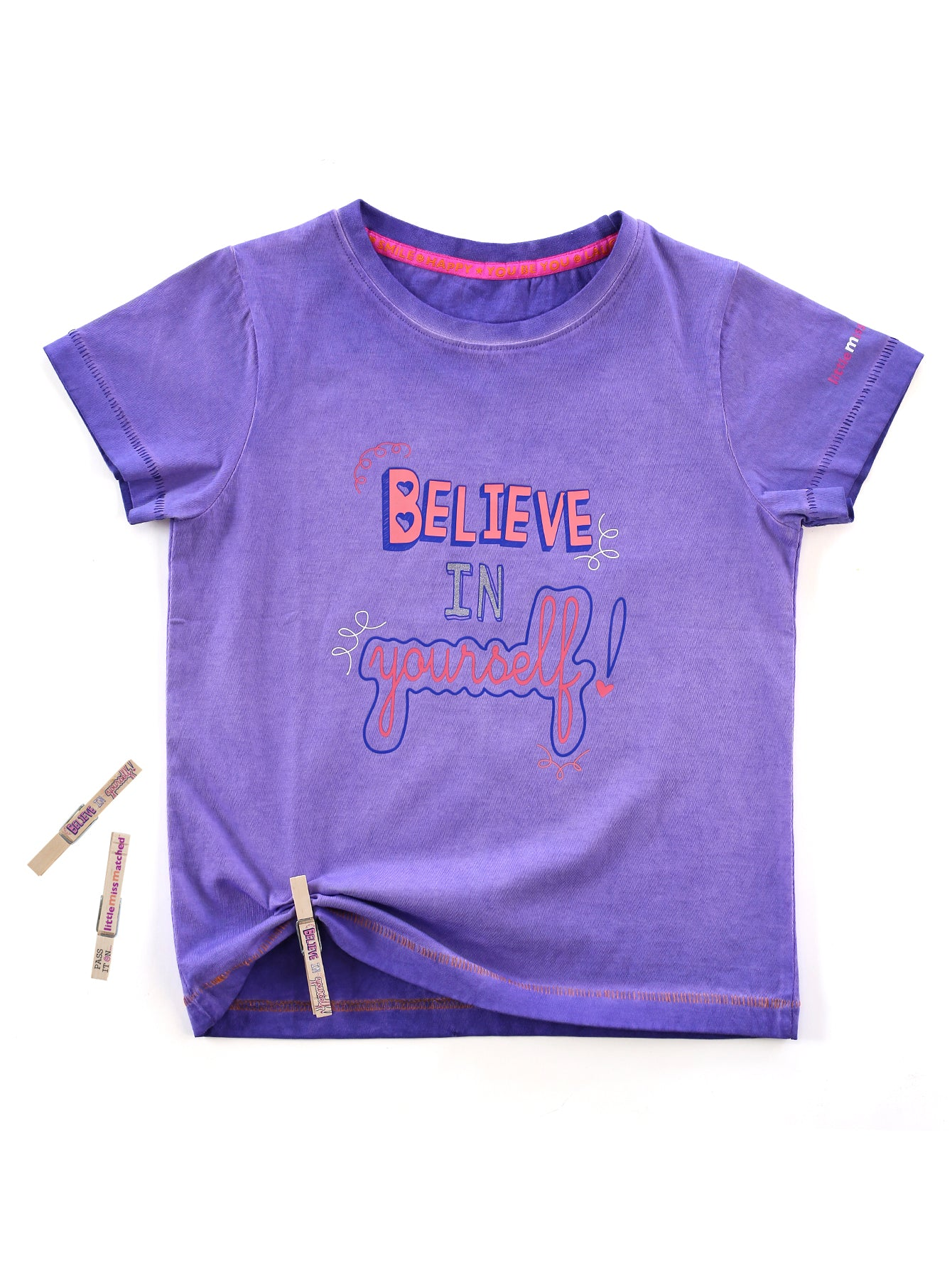 'BELIEVE IN YOURSELF' PASS-IT-ON TEE + 3 FREE KINDNESS PINS