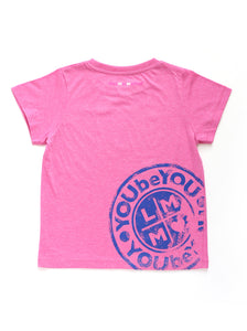PINK LMM DISTRESSED TEE