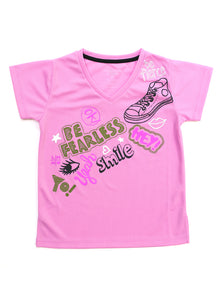 BE FEARLESS PINK TEE