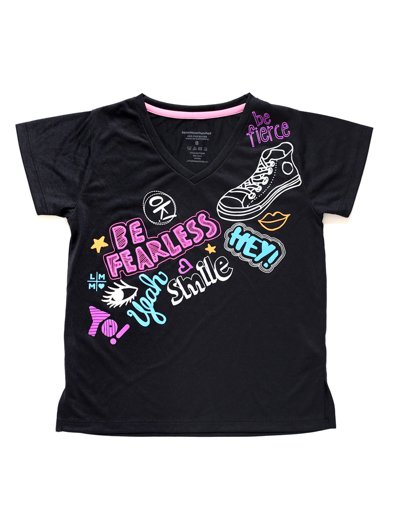 BE FEARLESS BLACK TEE