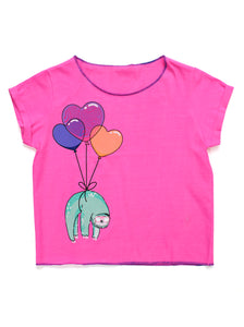FLOATING HEART BALLOONS GRAPHIC TEE