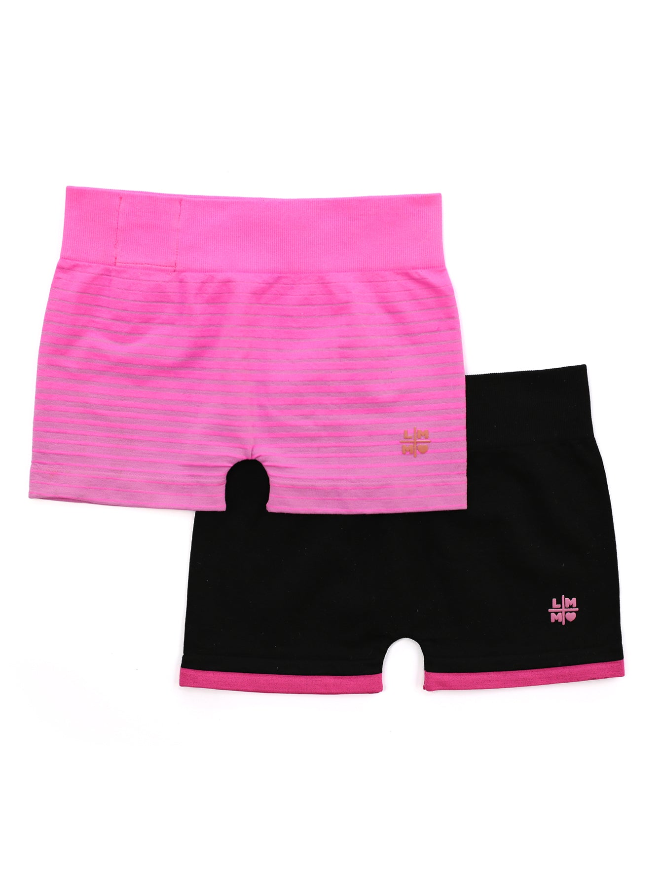 BLACK & PINK BOY SHORT 2-PACK