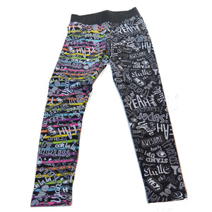 BE FEARLESS BLACK ZANY LEGGINGS
