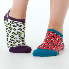 Load image into Gallery viewer, BRIGHT LEOPARD LINER SOCKS