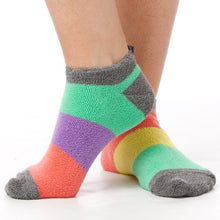 Load image into Gallery viewer, PASTEL COLORBLOCK REVERSE TERRY LINER SOCKS