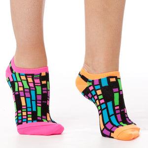 BLACK COLORBLOCK LINER SOCKS