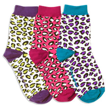 Load image into Gallery viewer, BRIGHT LEOPARD ANKLE SOCKS