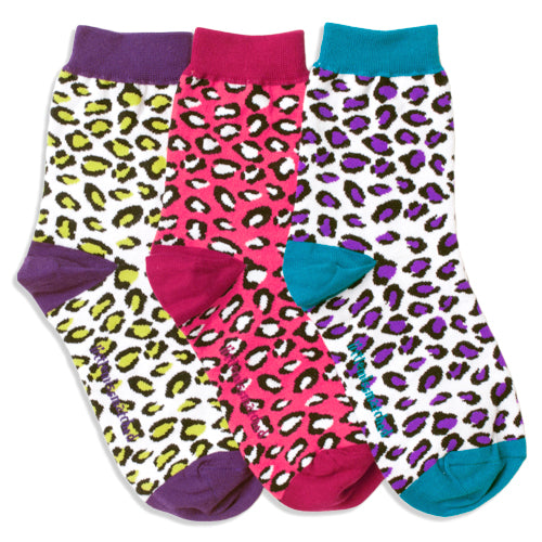 BRIGHT LEOPARD ANKLE SOCKS