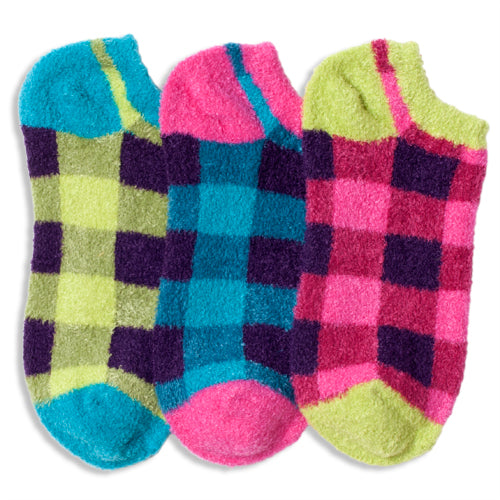 BUFFALO PLAID FUZZY LINER SOCKS