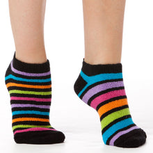 Load image into Gallery viewer, ZANY STRIPE REVERSE TERRY LINER SOCKS