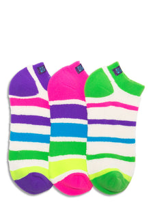 REVERSIBLE LOOP TERRY ZANY STRIPES LINER SOCKS