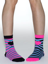 Load image into Gallery viewer, MISS MATCHED STRIPES ANKLE SOCKS