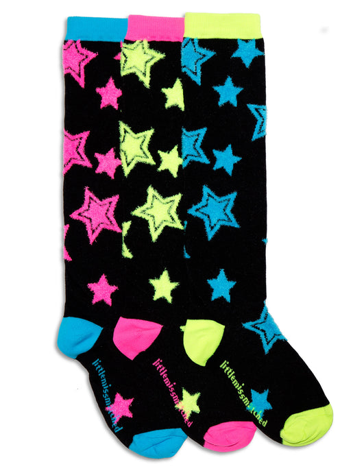 PUNK STARS FUZZY KNEE HIGH SOCKS