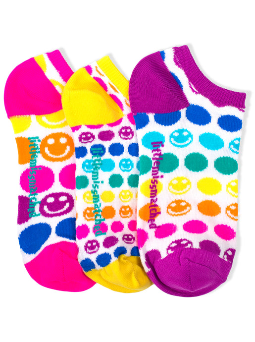 SMILEY DOT LINER SOCKS
