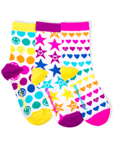 RAINBOW SMILES ANKLE SOCKS