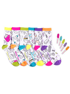 FOODIE FRIENDS COLORIZE DELUXE ANKLE SET