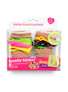 SMELLY CHEESEBURGER SOCKS GIFT SET-BEST SELLER BIG SAVINGS-GET IT NOW