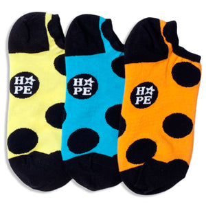 LOVE & HOPE REVERSIBLE LINER SOCKS