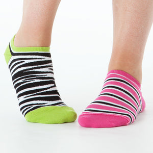 ZEBRA & STRIPE REVERSIBLE LINER SOCKS