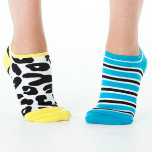 LEOPARD & STRIPE REVERSIBLE LINER SOCKS