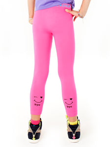 NEON PINK HI BYE SEAMLESS LEGGINGS