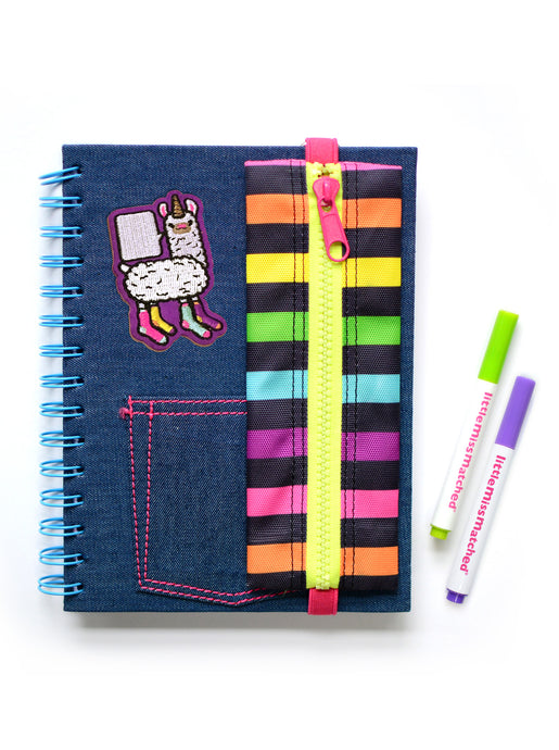 ATTACH-A-PATCH DENIM NOTEBOOK