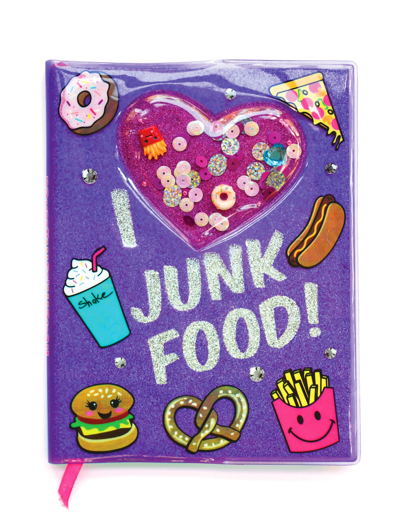 I LOVE JUNK FOOD SHAKER NOTEBOOK