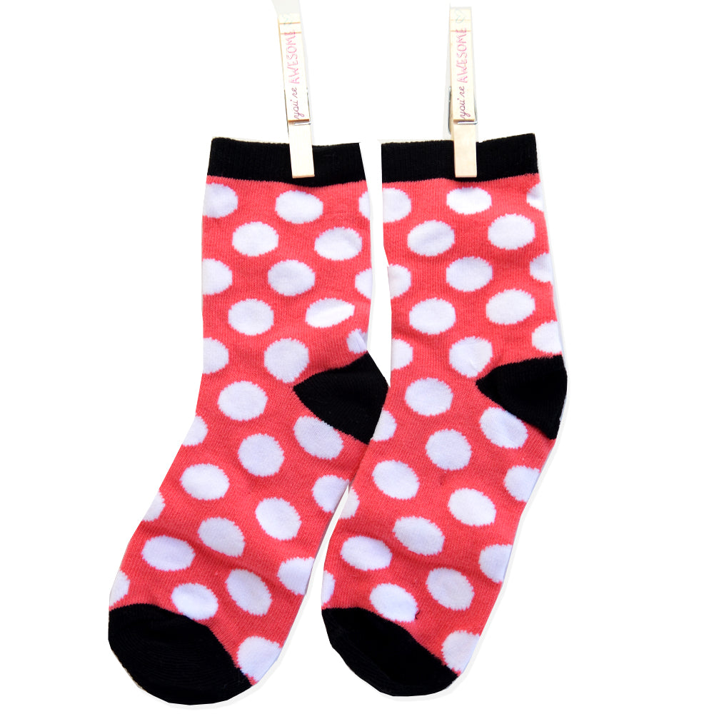 FABULOUS HERRINGBONE ANKLE SOCKS DOTS