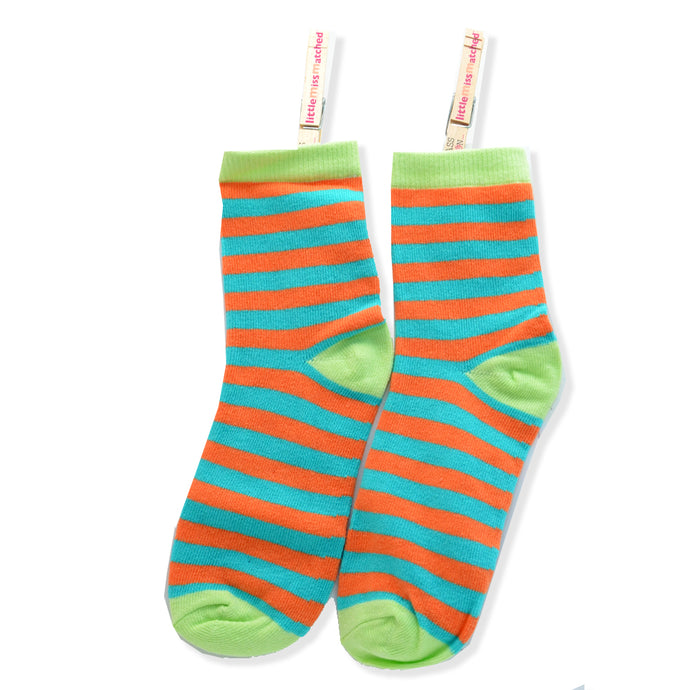 KOOKY ANKLE SOCKS STRIPE