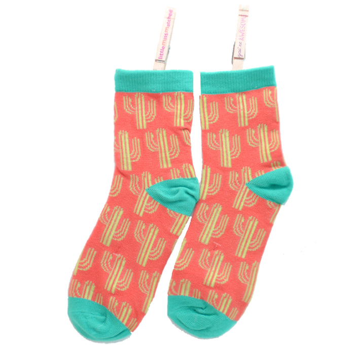 KOOKY ANKLE SOCKS CACTUS ORANGE