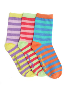 KOOKY STRIPES MIX ANKLE SOCKS