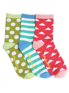 MARVELOUS TRIANGLES ANKLE SOCKS