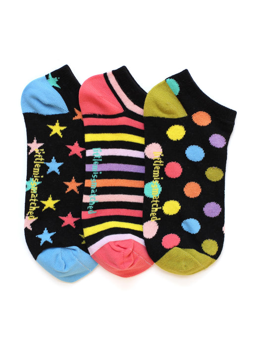 BLACK ZANY LINER SOCKS