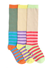 Load image into Gallery viewer, KOOKY STRIPES MIX KNEE HIGH SOCKS