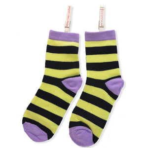 KOOKY STRIPES ANKLE SOCKS YELLOW