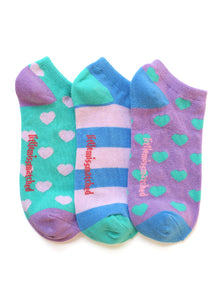 MARVELOUS HEARTS LINER SOCKS