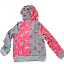 Load image into Gallery viewer, PINK & GREY STAR ZIP-UP