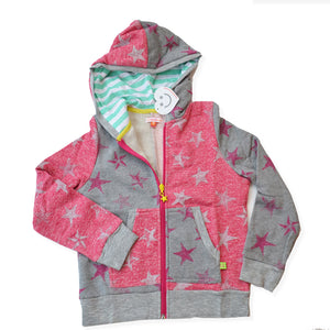 PINK & GREY STAR ZIP-UP