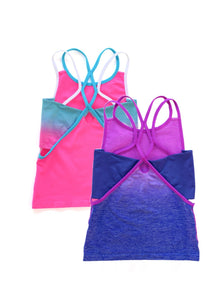 PINK & BLUE OMBRE TANK 2-PACK