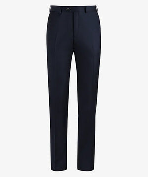 PANTALON BUSINESS S140 LISO MARINO