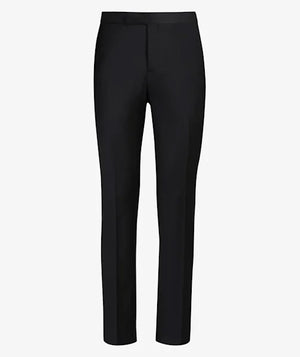 PANTALON BUSINESS S140 LISO NEGRO