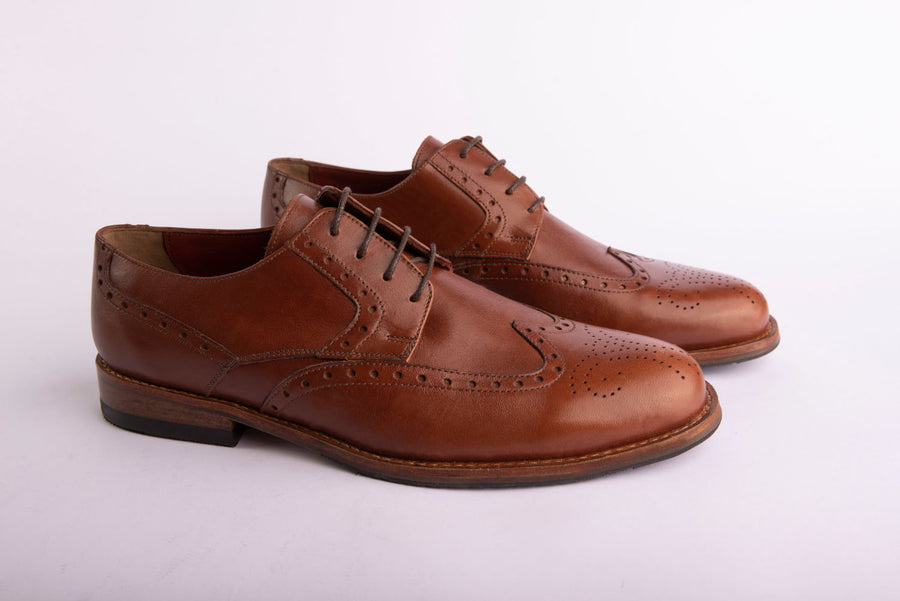 ZAPATO CUERO OXFORD CAFE