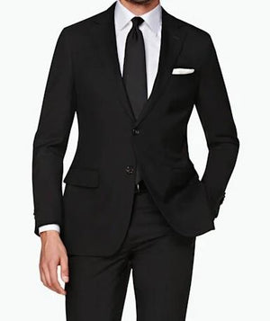 TRAJE BUSINESS S140 LISO NEGRO