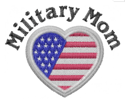 Military Mom Flag in Heart