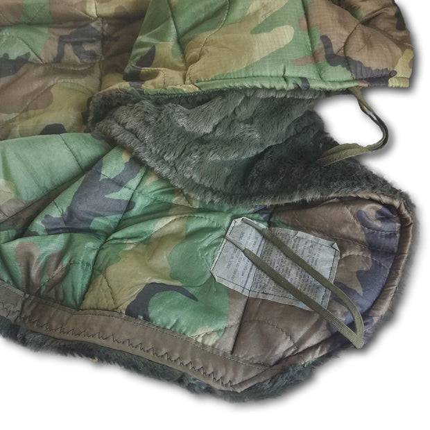 Woodland Camo Pattern Loden Green Faux Fur