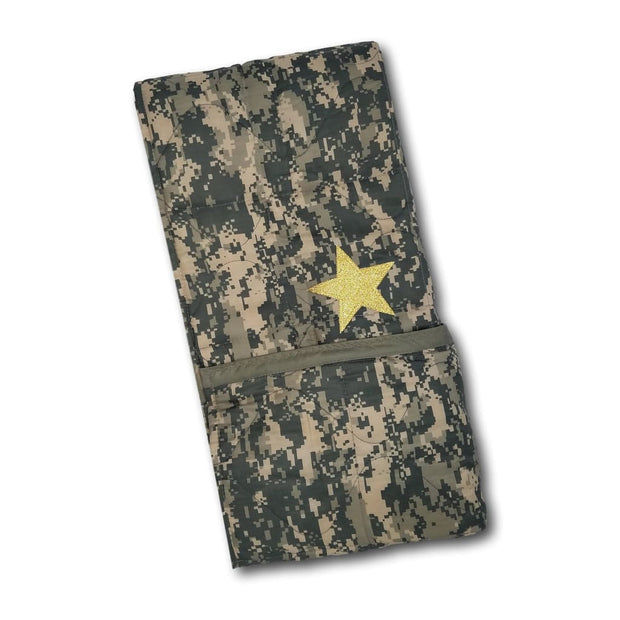 ACU/UCP Camo Pattern Child Sized 43 x 40 Glitter Gold Star - Woobie Weighted Blanket
