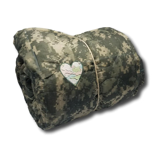 ACU/UCP Camo Pattern - Glow-in-the-Dark Camouflage Heart - Woobie Weighted Blanket Shell