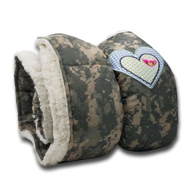 ACU/UCP Camo Pattern Plaid Heart and Sherpa - Woobie Weighted Blanket